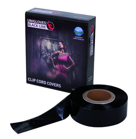 Clip Cord Covers, schwarz, Rolle á 365m, 5,5cm breit